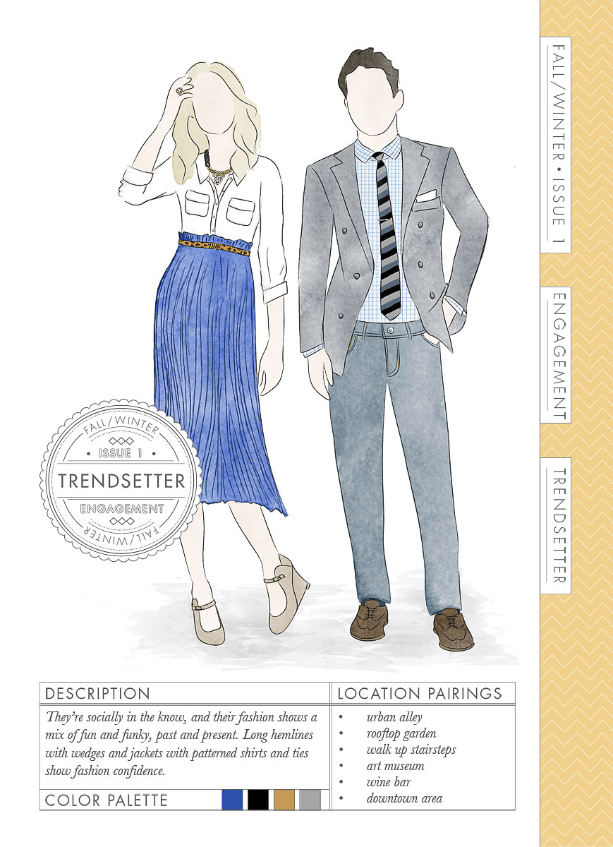 What to wear for engagement photo session